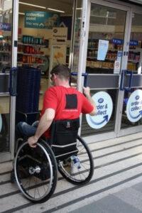 Wheelchair Door Negotiation