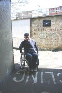 Wheelchair Turning a Corner