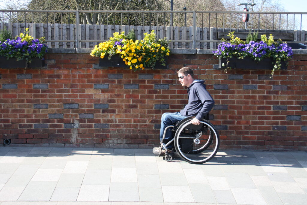 About Me Wheelchair Pushing